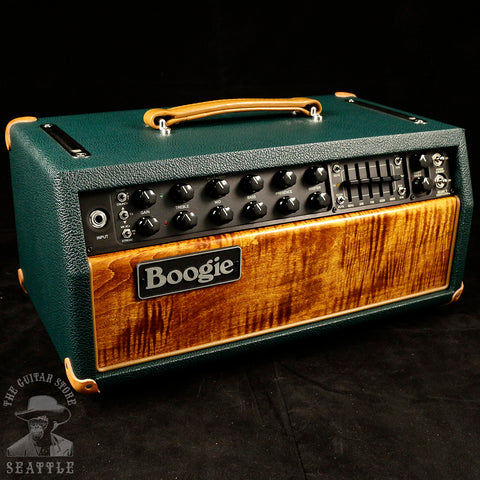 Mesa Boogie Mark Five: 35 Head Premier Amber Flamed Maple Front Emerald Bronco