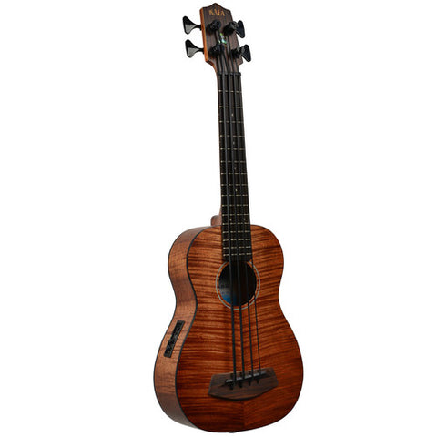 Kala U-Bass Exotic Mahogany with Bag