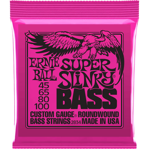 Ernie Ball P02834 Super Slinky Nickel Wound Electric Bass Strings