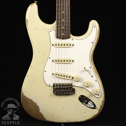 Fender Custom Shop 60s Stratocaster Heavy Relic Super Faded Aged Olympic White