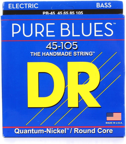 DR Pure Blues Quantum-Nickel Bass Strings on Round Cores 45-105