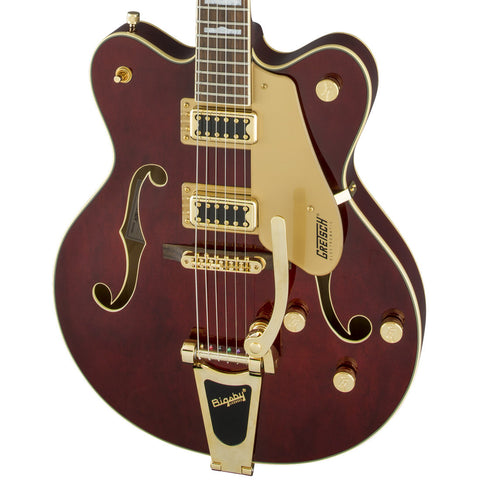 Gretsch G5422TG Electromatic Hollow Body Double-Cut with Bigsby and Gold Hardware Walnut Stain