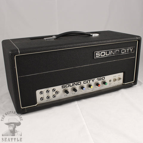 Used Sound City B120 Guitar Amplifier Head