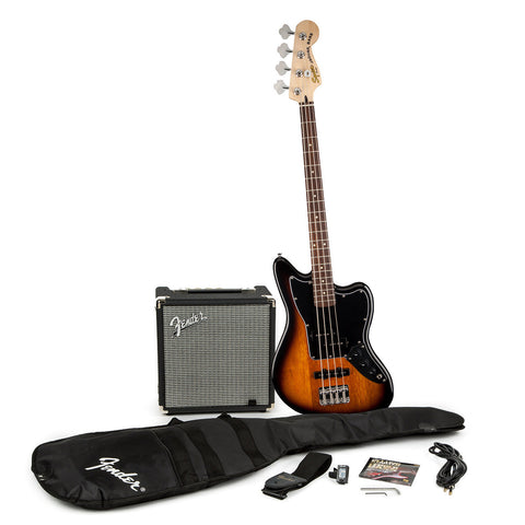 Squier Jaguar Bass Special SS with Fender Rumble 15 Amplifier 0301680032