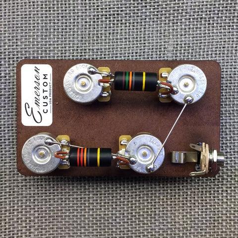 Emerson Les Paul Long Shaft Prewired Kit
