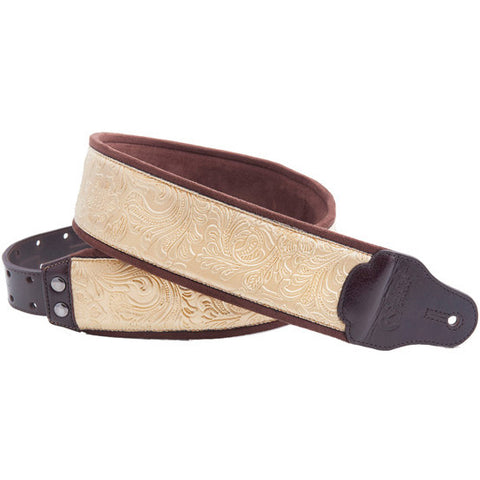 RightOn! Jazz Fiore Gold Guitar Strap