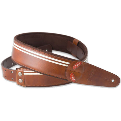 RightOn! Mojo Race Brown Guitar Strap