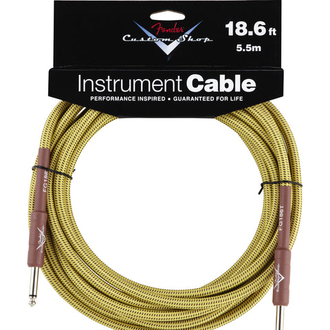 Fender Custom Shop Performance Series 18.6 Foot Instrument Cable Tweed Straight-Straight 0990820030