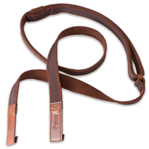 RightOn! Classical Classical-Dual-Hook Brown Guitar Strap
