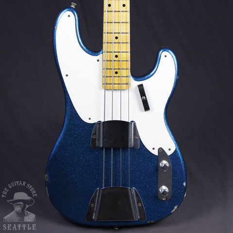 Fender Custom Shop Limited 1955 Relic Precision Bass Aged Blue Sparkle 9230061813