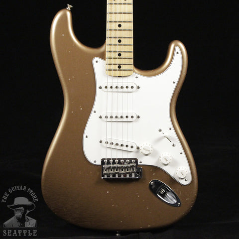 Fender Masterbuilt Limited 1969 Journeyman Relic Stratocaster Firemist Gold Electric Guitar