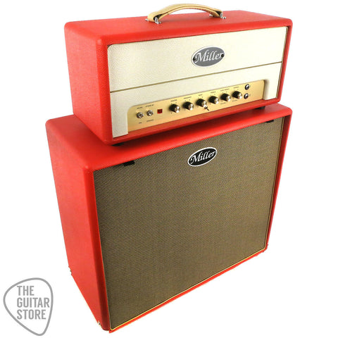 Miller Ampwerks Columbia Head & 2x12 Cabinet Red & Cream
