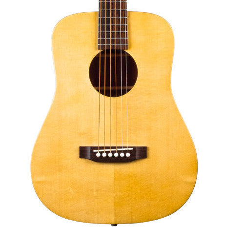 Recording King EZ Tone Mini Dreadnought Solid Engelmann Spruce Top Natural