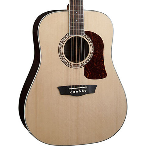 Washburn Heritage Series HD20S Dreadnought Rosewood Sitka Natural Acoustic Guitar