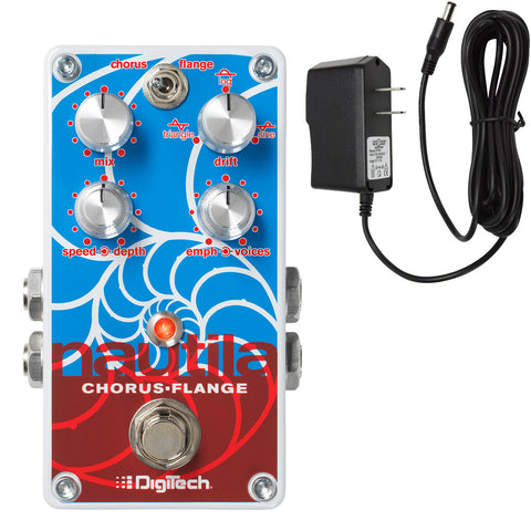 Digitech Nautila Chorus & Flanger with FREE Power Supply