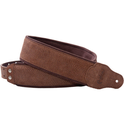 RightOn! Jazz Reptile Brown Guitar Strap