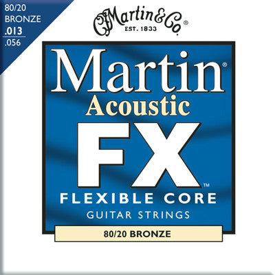 Martin MFX650 Flexible Core 80/20 Bronze Acoustic Guitar FX Medium 13-56