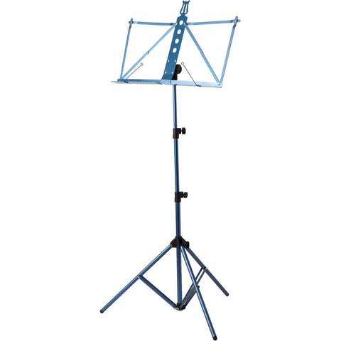 Strukture Deluxe Aluminum Music Stand Adjustable Tray Blue