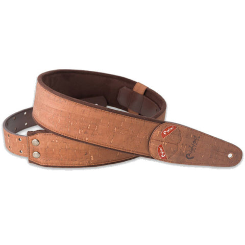 RightOn! Mojo Cork Brown Guitar Strap