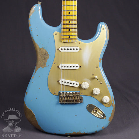 Fender Custom Shop '57 Stratocaster Heavy Relic Faded Taos Turqoise 9231007549