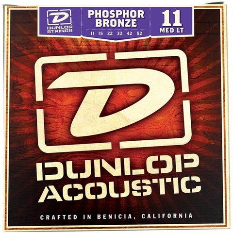 Dunlop Phosphor Bronze Medium-Light Acoustic Guitar Strings