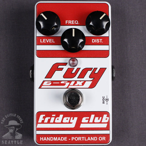 Friday Club Fury 6-Six High Gain Distortion Pedal