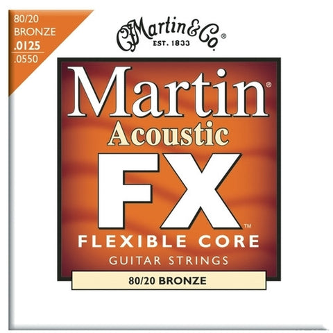 Martin MFX645 Flexible Core 80/20 Bronze Acoustic Guitar FX Light-Medium 12.5-55