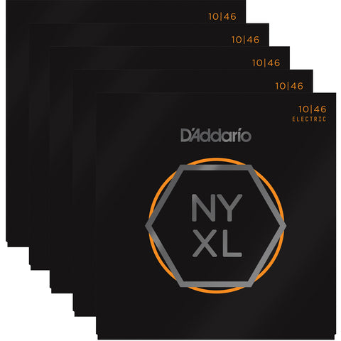 D'Addario NYXL Nickel Wound Regular Light 10-46 Five-Pack