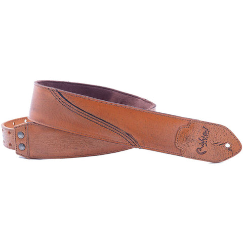 RightOn! Leathercraft Freckled Woody Guitar Strap