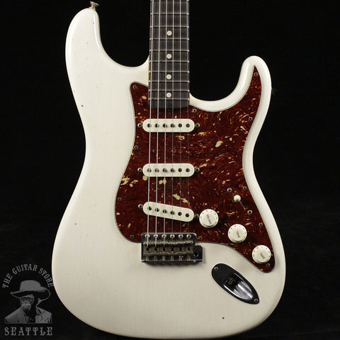 Fender Yuriy Shishkov Builder Select 1963 Stratocaster Arctic White Electric Guitar