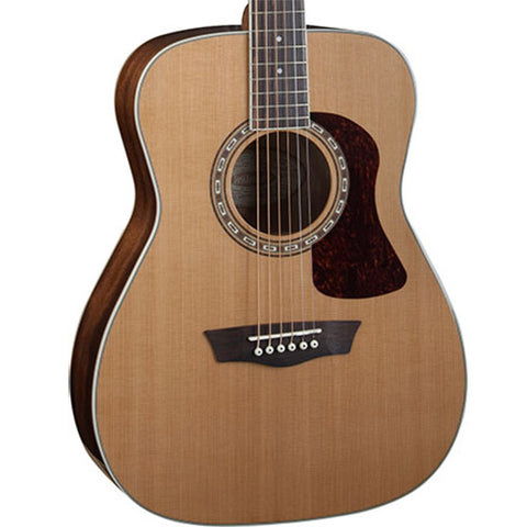 Washburn Heritage Series HF11S Folk Mahogany Cedar Natural Acoustic Guitar