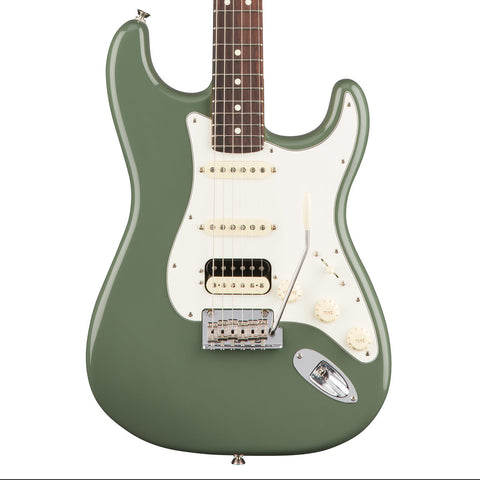 Fender American Pro Stratocaster HSS Shawbucker Rosewood Fingerboard Antique Olive Electric Guitar