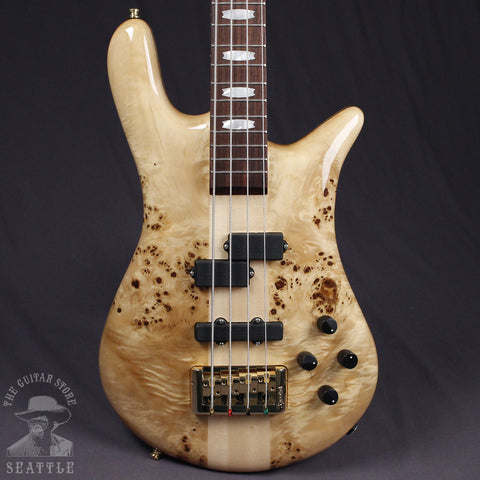 Spector Euro4LX Exotic Poplar Burl Top Clear Gloss