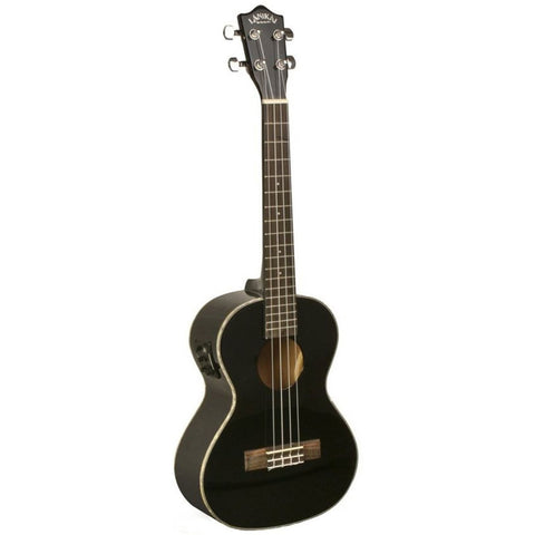 Lanikai LU Series LU-21TEK Tenor Acoustic-Electric Ukulele with Fishman Kula Electronics Black