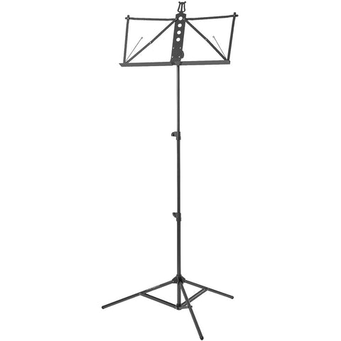 Strukture Deluxe Aluminum Music Stand Adjustable Tray Black