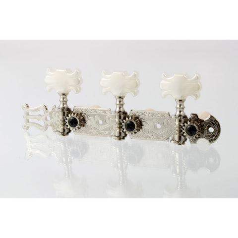 Allparts Nickel Classical Tuner Set with Butterfly Buttons TK-0124-001