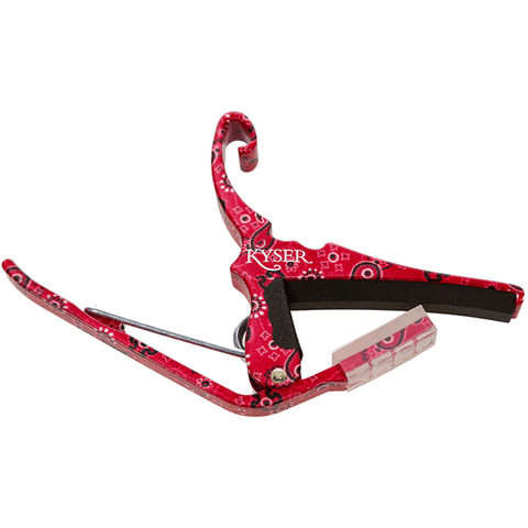Kyser Quick Change Six String Guitar Capo Red Bandana