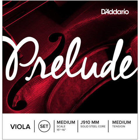 D'Addario J910MM Prelude Viola String Set Medium Scale Medium Tension