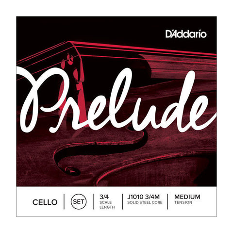 D'Addario Prelude Cello String Set 3/4 Scale Medium Tension