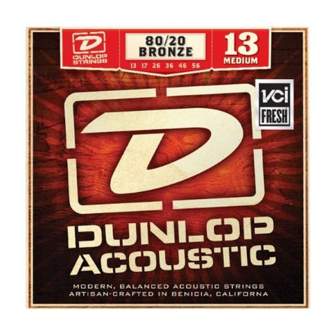 Dunlop 80/20 Bronze Medium Acoustic Guitar Strings