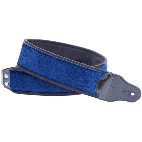 RightOn! Jazz Cashmere Blue Guitar Strap