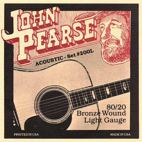John Pearse 80/20 Bronze Light Acoustic Set 200L