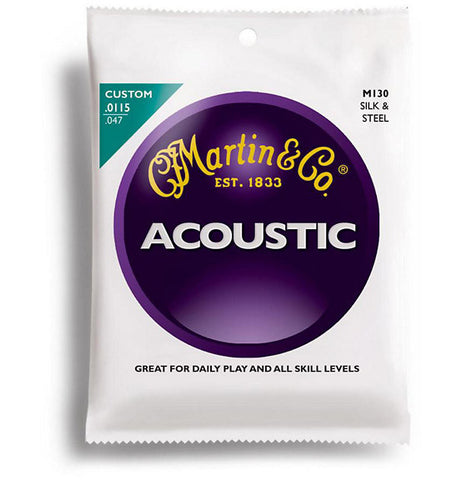 Martin M130 Silk and Steel Custom Acoustic Guitar Strings 11-47