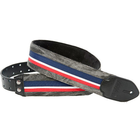 RightOn! Funky Stripes-F Black Guitar Strap
