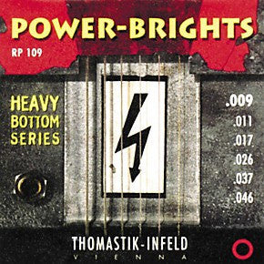 Thomastik RP109 Power-Brights Heavy Bottom Light Top Electric Guitar Strings 9-46