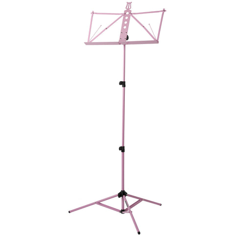 Strukture Deluxe Aluminum Music Stand Adjustable Tray Pink