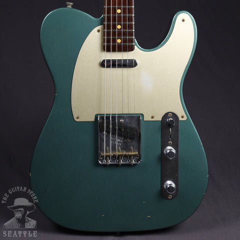 Fender Custom Shop 50s Telecaster Journeyman Relic Rosewood Neck Faded Sherwood Green Metallic