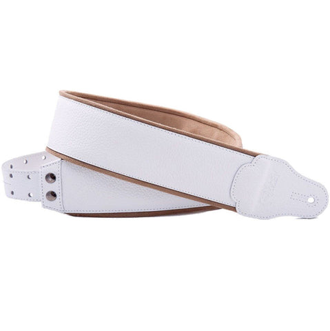 RightOn! Jazz Graham White Guitar Strap