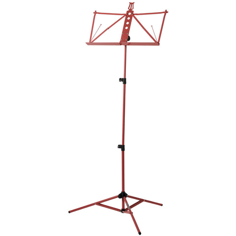 Strukture Deluxe Aluminum Music Stand Adjustable Tray Red