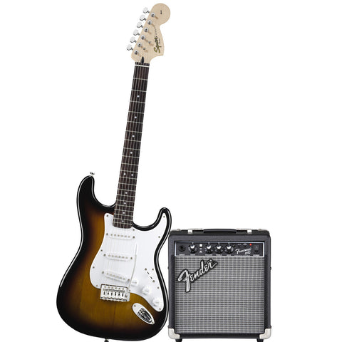 Squier Affinity Series Strat Pack with Fender Frontman 10G Amp Brown Sunburst 0301612032